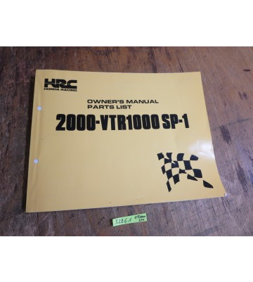Owners Manual, Parts List (für VTR 1000, SP - 1)